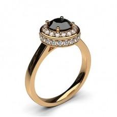 Brilliant Rotgold Verlobungsringe
