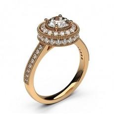 Rose Gold Halo Diamond Engagement Ring - CLRN335_03