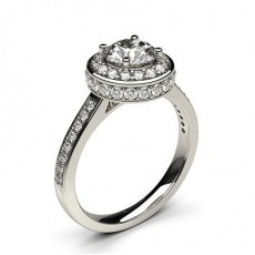 White Gold Halo Diamond Engagement Ring - CLRN335_02