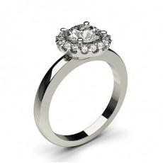 White Gold Halo Diamond Engagement Ring - CLRN336_01