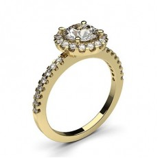 4 Prong Setting Side Stone Halo Engagement Ring - CLRN336_02