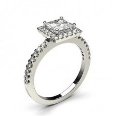 Multi Diamant Verlobungsring in einer Krappenfassung mit Schulter Diamanten - CLRN336_02