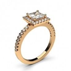 Prinzessin Rotgold Halo-Ringe
