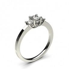 White Gold Princess Trilogy Diamond Engagement Ring