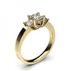 Princesse Or Jaune Trilogie Bague Diamant