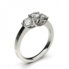 White Gold Trilogy Diamond Engagement Ring - CLRN339_01