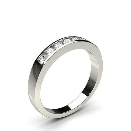 Channel Setting Plain Seven Stone Ring