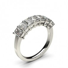 Emeraude 7 Pierres Bague Diamant