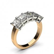 4 Prong Setting Plain Five Stone Ring - CLRN343_01