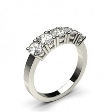 4 Prong Setting Plain Five Stone Ring - CLRN344_02