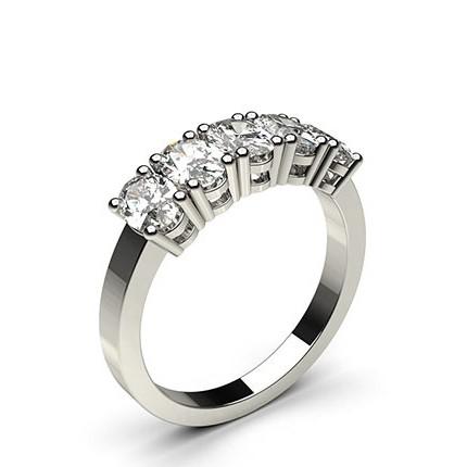 Fünf Diamanten in einer Krappenfassung