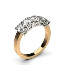 4 Prong Setting Plain Five Stone Ring - CLRN344_01