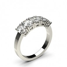 4 Prong Setting Plain Five Stone Ring - CLRN344_01