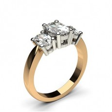 4 Prong Setting Studded Three stone Ring - CLRN345_01