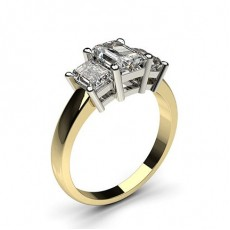 4 Prong Setting Studded Three stone Ring - CLRN346_01