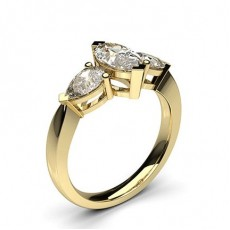 Mixed Shapes Yellow Gold Diamond Rings