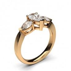 Rose Gold Trilogy Diamond Engagement Rings