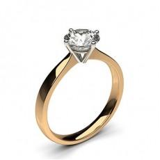 4 Prong Setting Plain Engagement Ring - CLRN348_01