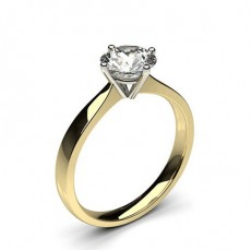 4 Prong Setting Plain Engagement Ring - CLRN348_01