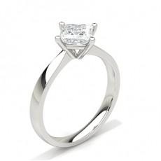 Bague de fiançailles solitaire diamant serti 4 griffes rondes - CLRN348_01