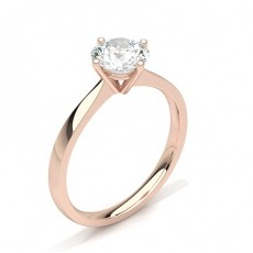Or Rose Bague solitaire diamant