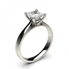 4 Prong Setting Plain Engagement Ring - CLRN349_01