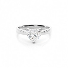 White Gold Round Diamond Engagement Ring - CLRN349_01