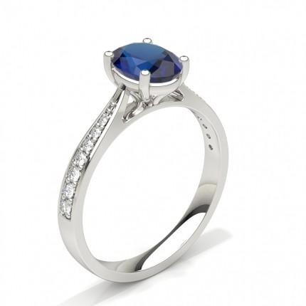 Buy 6 Prong Setting Large Side Stone Engagement Ring Diamonds Factory Uk