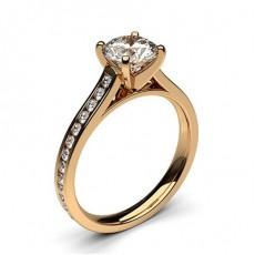 Diamant Verlobungsring in einer Krappenfassung mit Schulter Diamanten - CLRN350_02