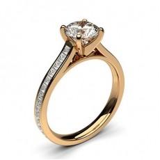 Diamant Verlobungsring in einer Krappenfassung mit Schulter Diamanten - CLRN350_01