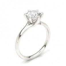 Bague de fiançailles solitaire diamant rond serti 6 griffes - CLRN351_01