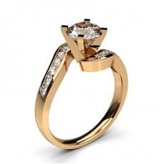 Diamant Verlobungsring in einer Krappenfassung mit Schulter Diamanten - CLRN353_02