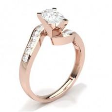 Tropfen Rotgold Diamantringe