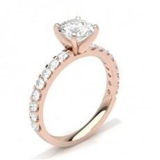 Diamant Verlobungsring in einer Krappenfassung mit Schulter Diamanten - CLRN354_01