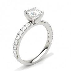 4 Prong Setting Side Stone Engagement Ring - CLRN354_01