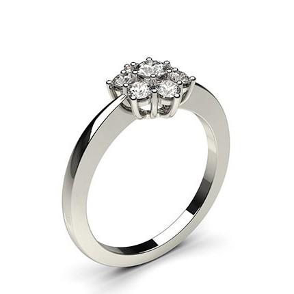 Sieben Diamanten in einer Krappenfassung