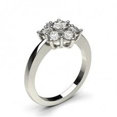 Bague 7 pierres diamant rond serti 6 griffes et 5 griffes - CLRN355_01