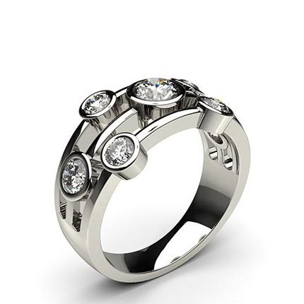 Full Bezel Setting Plain Seven Stone Ring