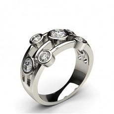 Bague 7 pierres diamant rond serti clos - CLRN356_01