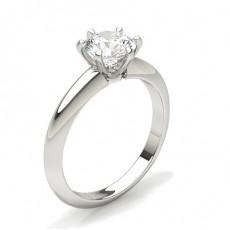 Bague de fiançailles solitaire diamant rond serti 6 griffes carrées - CLRN358_01