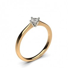 4 Prong Setting Plain Engagement Ring - CLRN360_01
