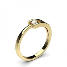 Yellow Gold Promise Diamond Rings