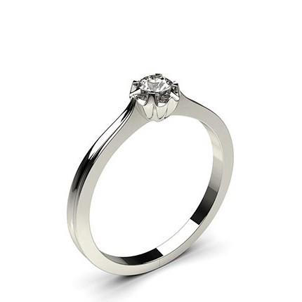 Bague mini diamant rond serti illusion
