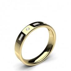 Mixed Shapes Yellow Gold Wedding Bands