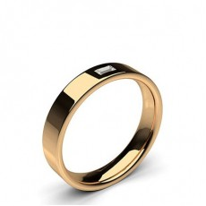Baguette Rose Gold Wedding Bands