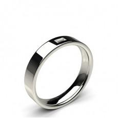 Alliance diamant baguette confort profil plat serti invisible