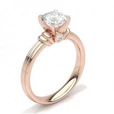 White Gold Round Diamond Engagement Ring - CLRN380_01
