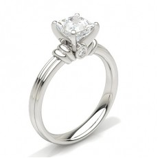 Bague de fiançailles solitaire diamant serti 4 griffes - CLRN380_01