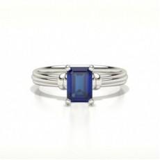 Emerald Sapphire Diamond Engagement Rings