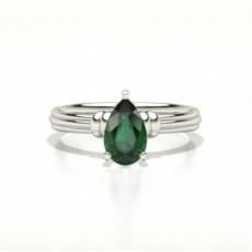 Pear Emerald Diamond Rings